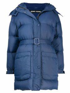 Ienki Ienki belted puffer coat - Blue