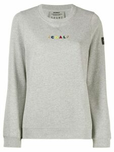 Ecoalf embroidered logo sweatshirt - Grey
