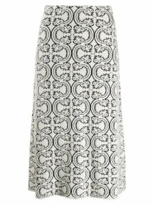 Jil Sander knitted patterned skirt - White