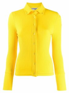 Courrèges snap button ribbed top - Yellow
