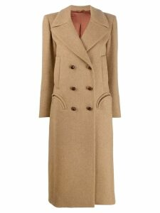 Blazé Milano double breasted midi coat - Neutrals