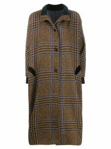 Blazé Milano checked pattern drifter robe - Brown