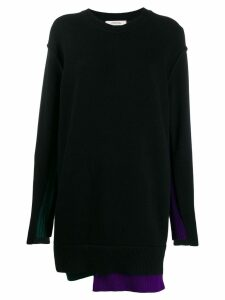Dorothee Schumacher deconstructed knitted dress - Black