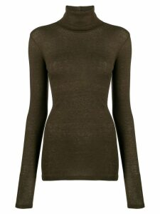 Closed roll neck jumper - Green