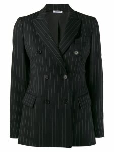 P.A.R.O.S.H. striped double breasted blazer - Black