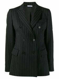 P.A.R.O.S.H. striped double breasted blazer - Black