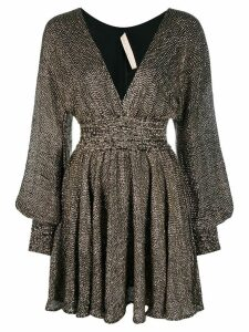 Maria Lucia Hohan long-sleeve mini dress - Silver