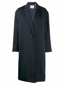 Vince loose-fit single-breasted coat - Blue