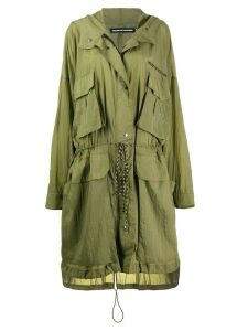 HOUSE OF HOLLAND hooded parka coat - Green