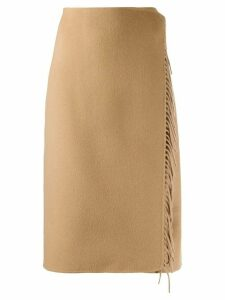 P.A.R.O.S.H. wrap style midi skirt - Brown