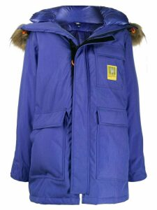 Brumal hooded down coat - Blue