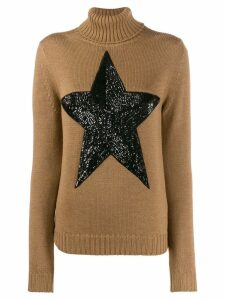 P.A.R.O.S.H. embellished star jumper - Brown