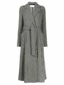 Harris Wharf London houndstooth trench coat - Black