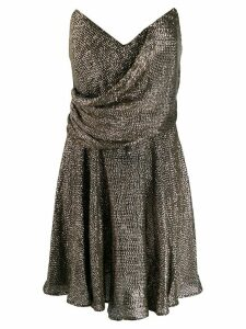 Maria Lucia Hohan strapless shift dress - Silver