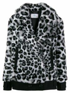 Alberta Ferretti leopard print jacket - Black