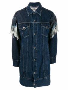 Levi's fringed sleeve denim dress - Blue