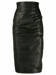 P.A.R.O.S.H. leather pencil skirt - Black