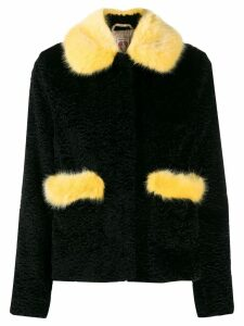 Shrimps pearl embellished coat - Black