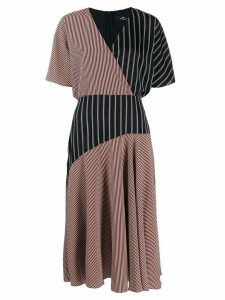 PS Paul Smith striped wrap dress - Red
