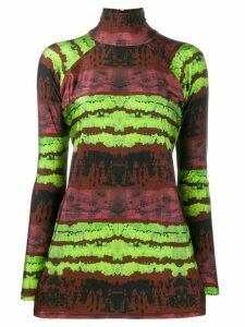 Barbara Bologna tie-dye contrast top - Brown