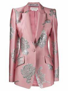 Alexander McQueen floral brocade blazer - Pink