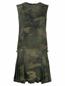Ermanno Scervino camouflage pleated dress - Green