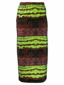 Barbara Bologna tie-dye midi skirt - Brown