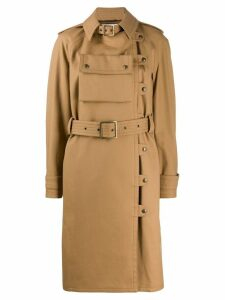 Courrèges Utility trench coat - NEUTRALS