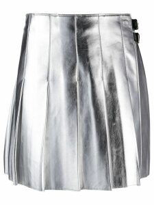 MSGM metallic pleated skirt - SILVER