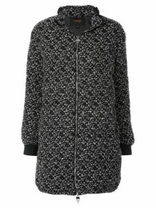 Giambattista Valli textured zip coat - Black