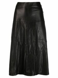 Arma A-line midi skirt - Black