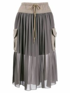 Chloé cargo pockets midi skirt - Grey