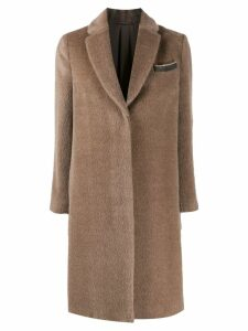 Brunello Cucinelli single breasted coat - NEUTRALS