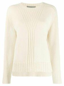 Alberta Ferretti knitted crew neck sweater - Neutrals