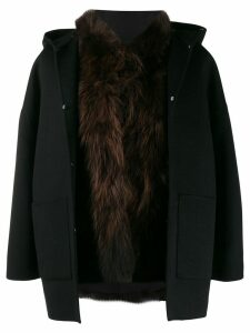 S.W.O.R.D 6.6.44 wool blend coat - Black