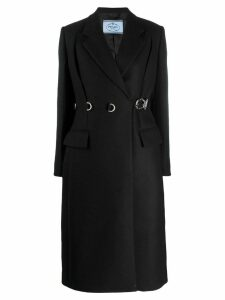 Prada buckle fastened trench coat - Black
