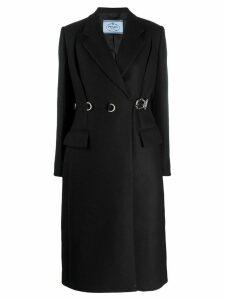 Prada buckle fastened trench coat - Black