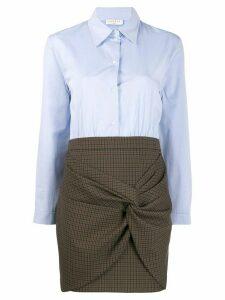 Sandro Paris check-panelled dress - Blue