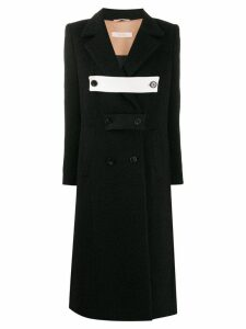 Ssheena double breasted coat - Black