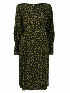 Erika Cavallini long sleeved silk dress - Black