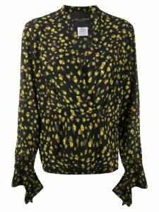 Erika Cavallini silk V-neck blouse - Black