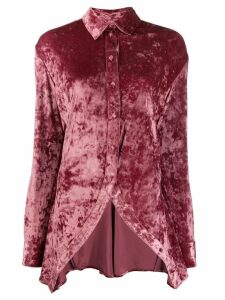 Y/Project spread velvet shirt - Pink