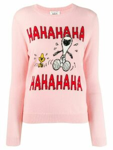 Chinti & Parker Snoopy intarsia jumper - Pink