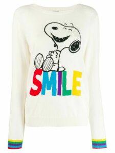 Chinti & Parker Smile print jumper - White