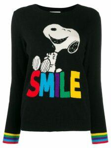 Chinti & Parker Smile print jumper - Black