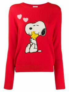 Chinti & Parker Snoopy print jumper - Red