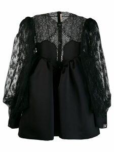 Christopher Kane cupcake lace sleeve mini dress - Black
