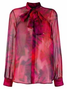 Dsquared2 pussy bow sheer shirt - Purple