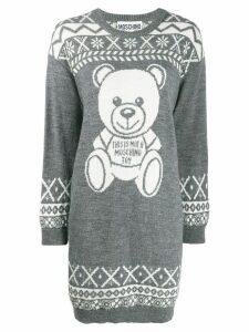 Moschino Teddy Bear knitted dress - Grey