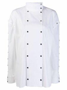 Christopher Kane snap cotton shirt - White